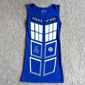 Doctor Who TARDIS Dress Blue Cosplay Small